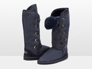 Adults Navy Blue Dance Tall Ugg Boot
