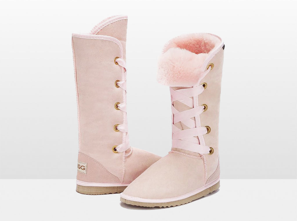Adults Pink Dance Tall Ugg Boot