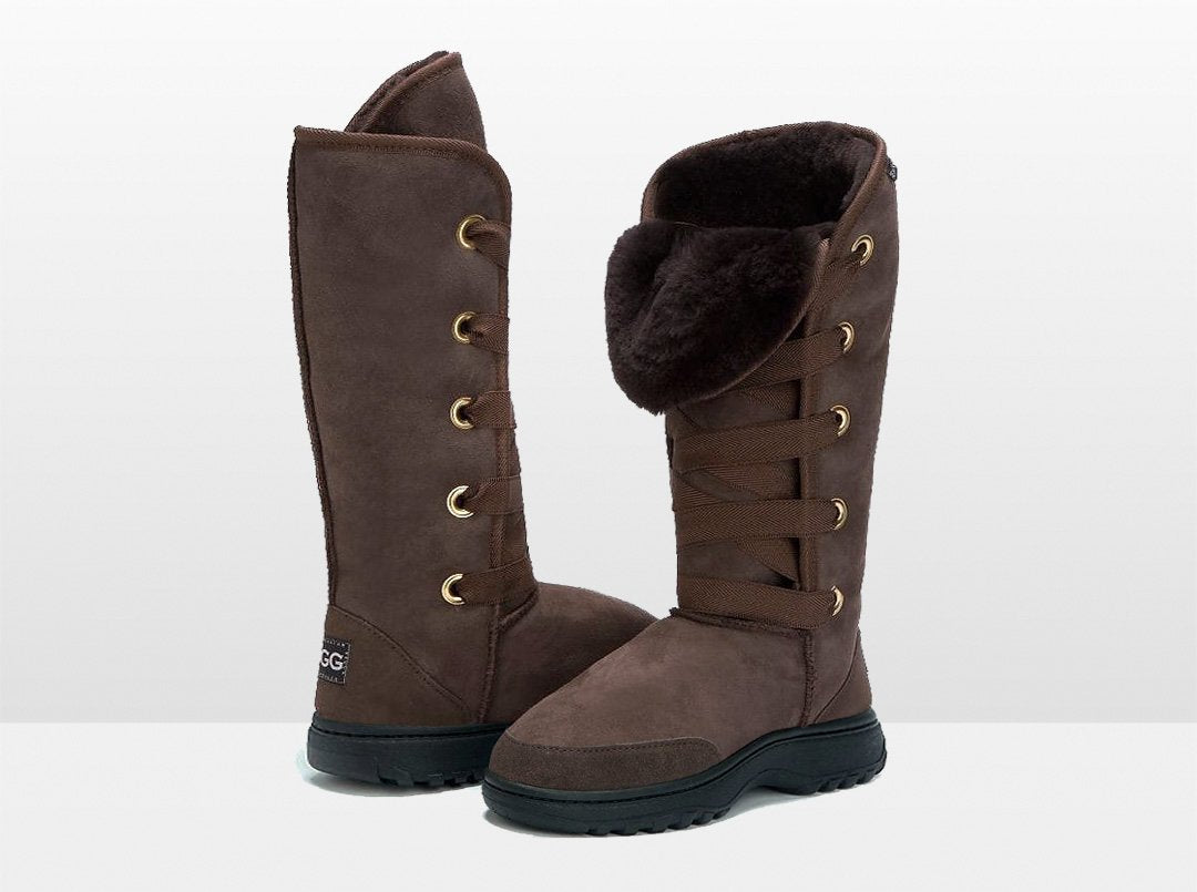 Adults Chocolate Dance Tall Ugg Boot with Outdoor Sole