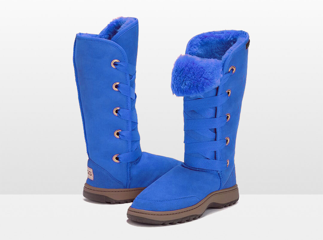 Adults Electric Blue Dance Tall Ugg Boot with Outdoor Sole