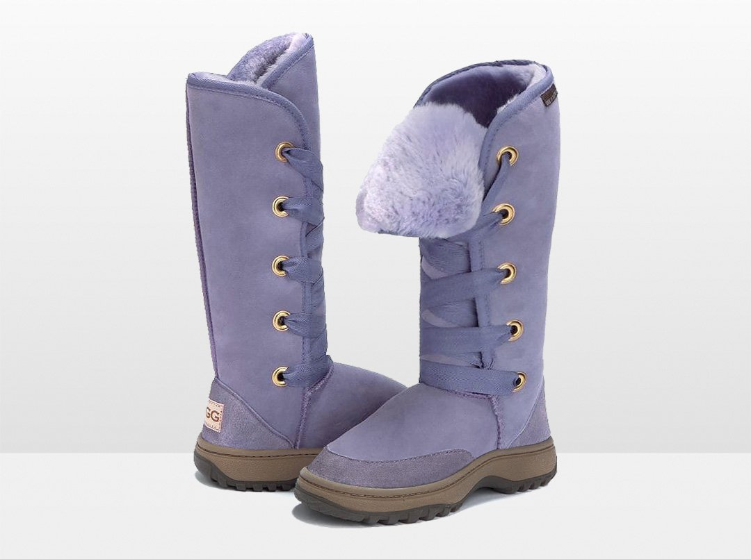 Adults Lilac Dance Tall Ugg Boot with Outdoor Sole