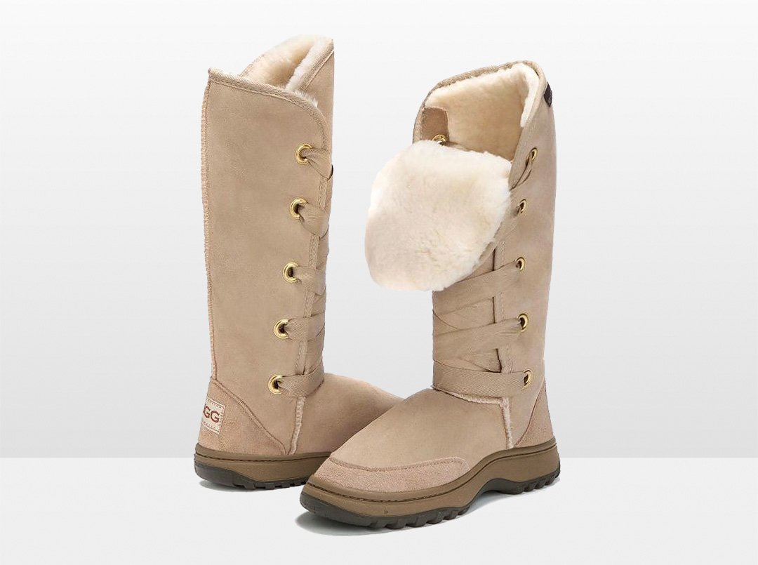Adults Sand Dance Tall Ugg Boot with Outdoor Sole