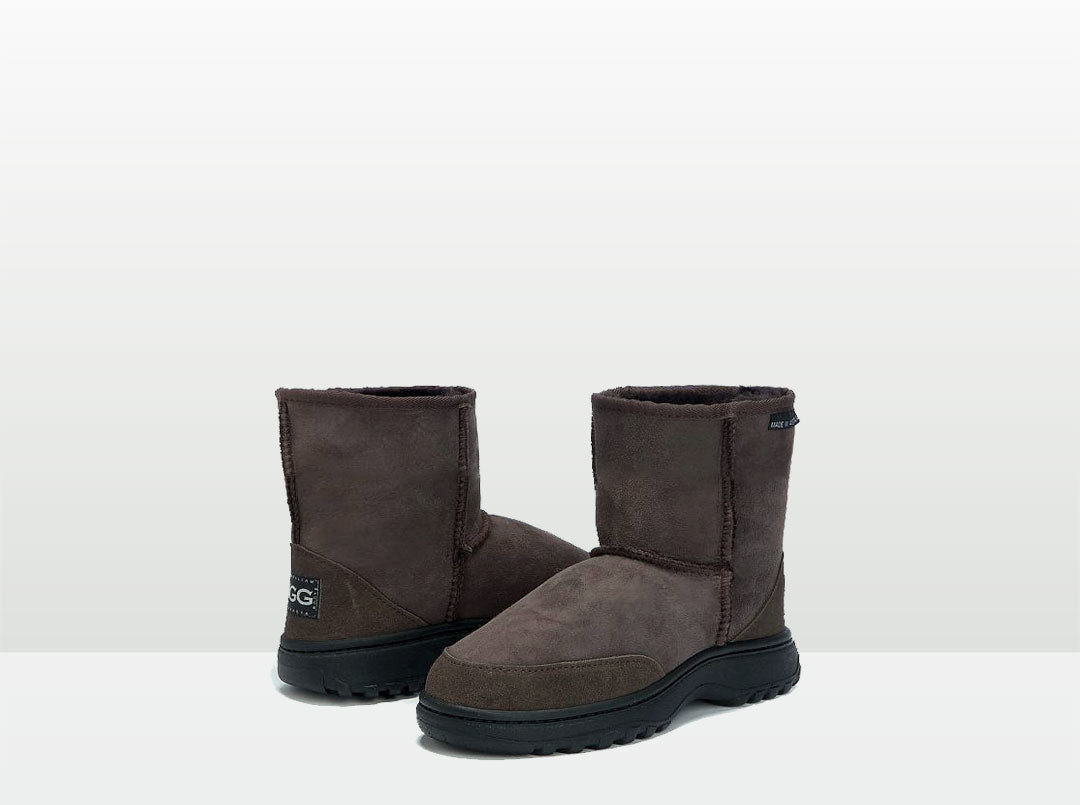 Adults Chocolate Classic Short Ugg Boots with Outdoor Sole