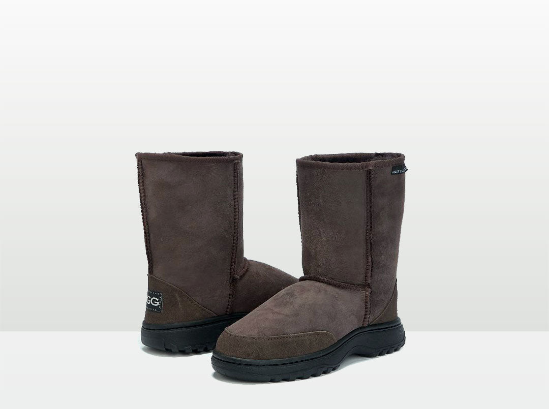 Adults Chocolate Short Deluxe Outdoor Ugg Boots