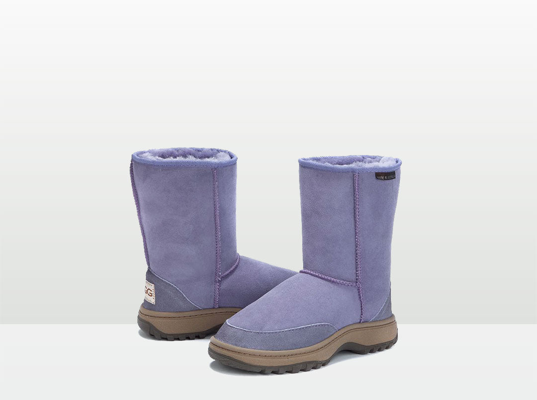Adults Lilac Short Deluxe Outdoor Ugg Boots