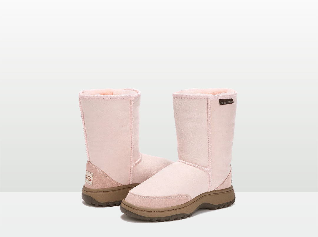 Adults Pink Short Deluxe Outdoor Ugg Boots