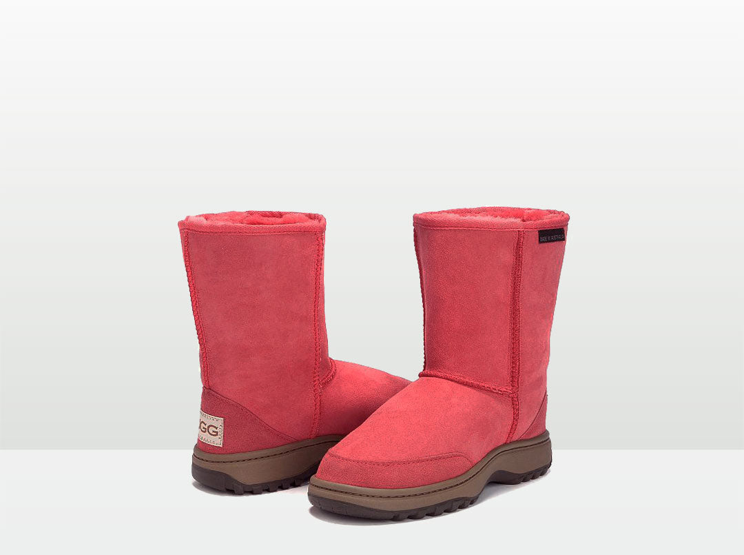 Adults Scarlet Short Deluxe Outdoor Ugg Boots