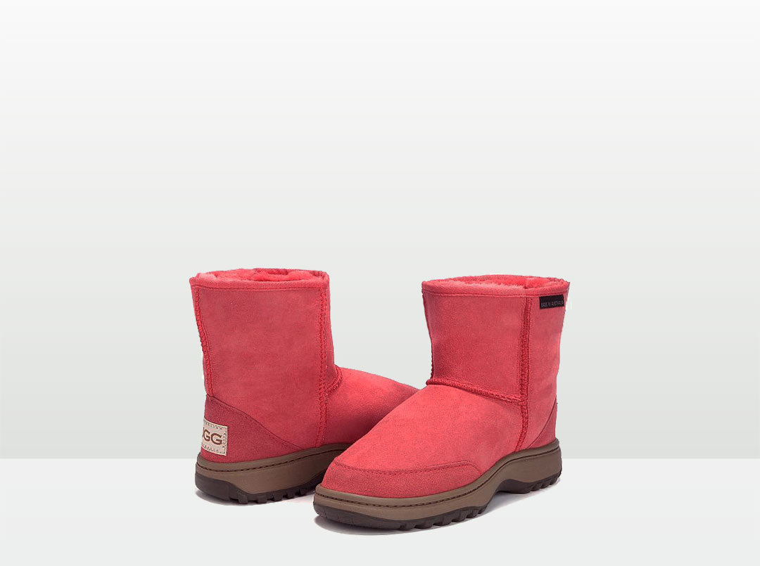 Adults Scarlet Classic Short Ugg Boots with Outdoor Sole