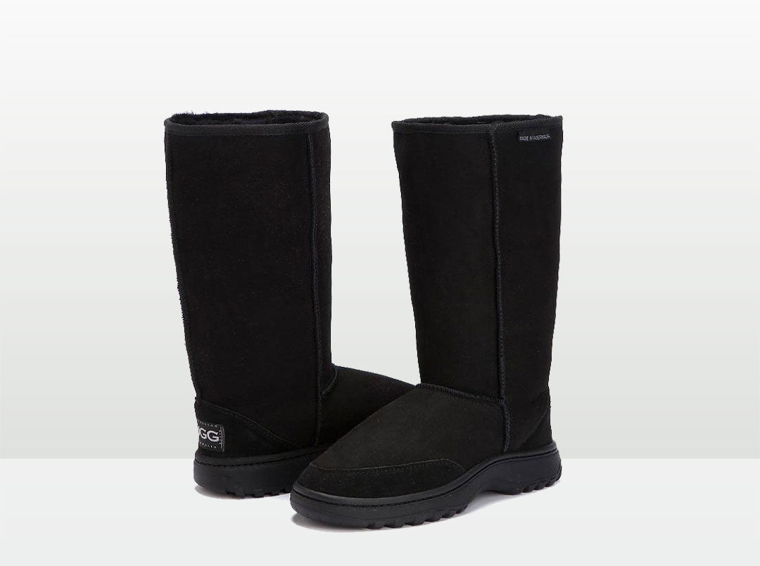 Adults Black Outdoor Ugg Boots