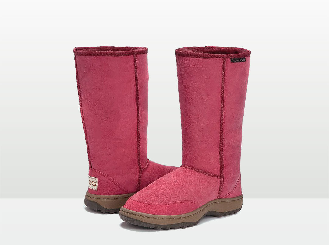 Adults Burgundy Outdoor Ugg Boots