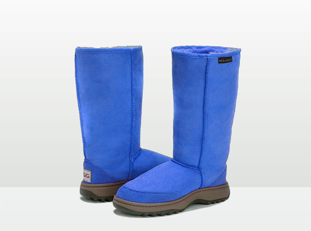 Adults Electric Blue Classic Tall Ugg Boots with Outdoor Sole