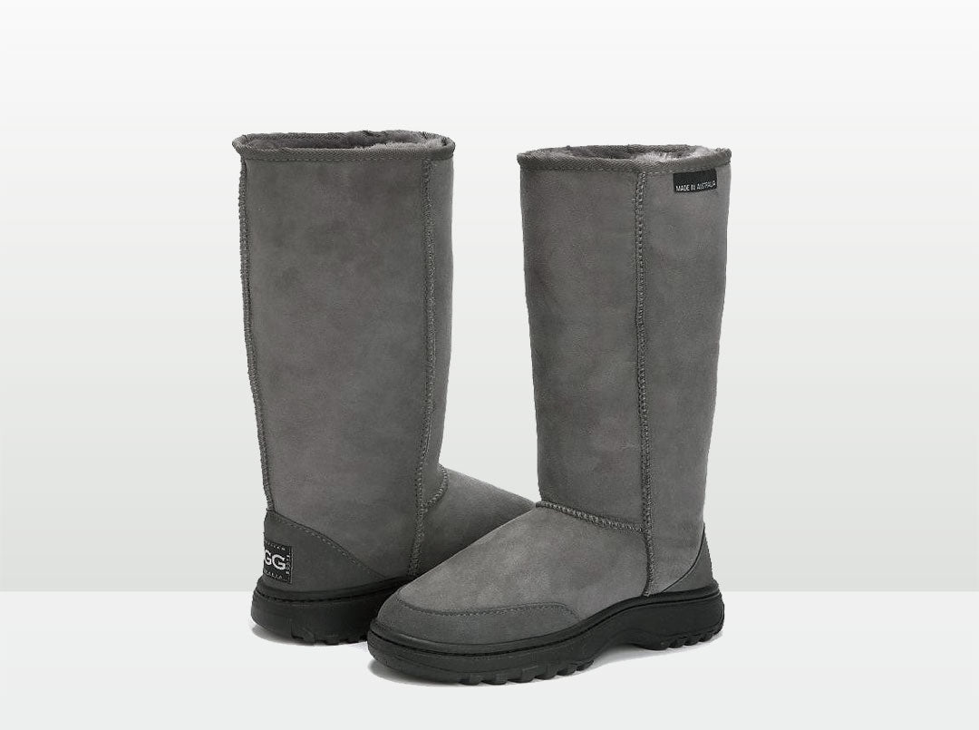 Adults Grey Outdoor Ugg Boots