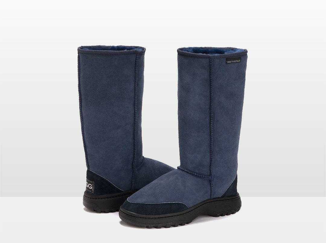 Adults Navy Blue Outdoor Ugg Boots