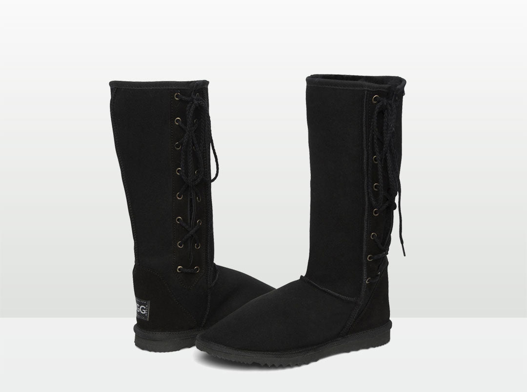 Adult's Lace Up Tall Sheepskin Boot