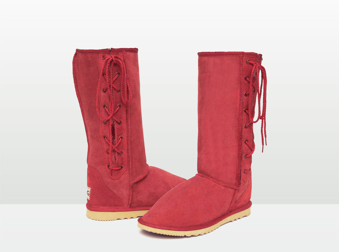 Adults Scarlet Lace Up Tall Ugg Boot