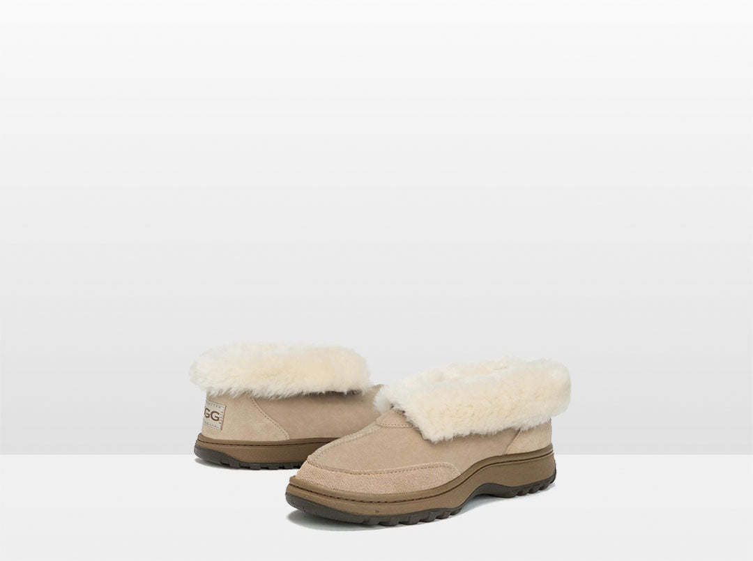 Adults Sand Classic Ugg Style Slipper with Outdoor Sole