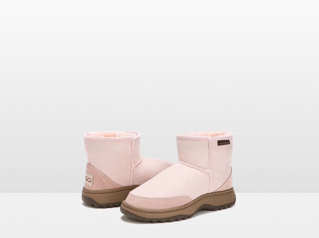 Adults Pink Classic Ultra Short Ugg Boots with Outdoor Sole