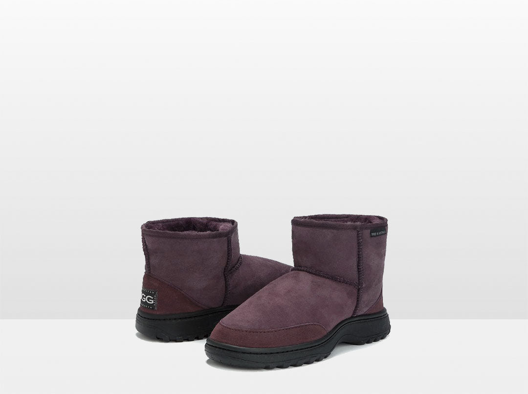 Adults Raisin Classic Ultra Short Ugg Boots with Outdoor Sole