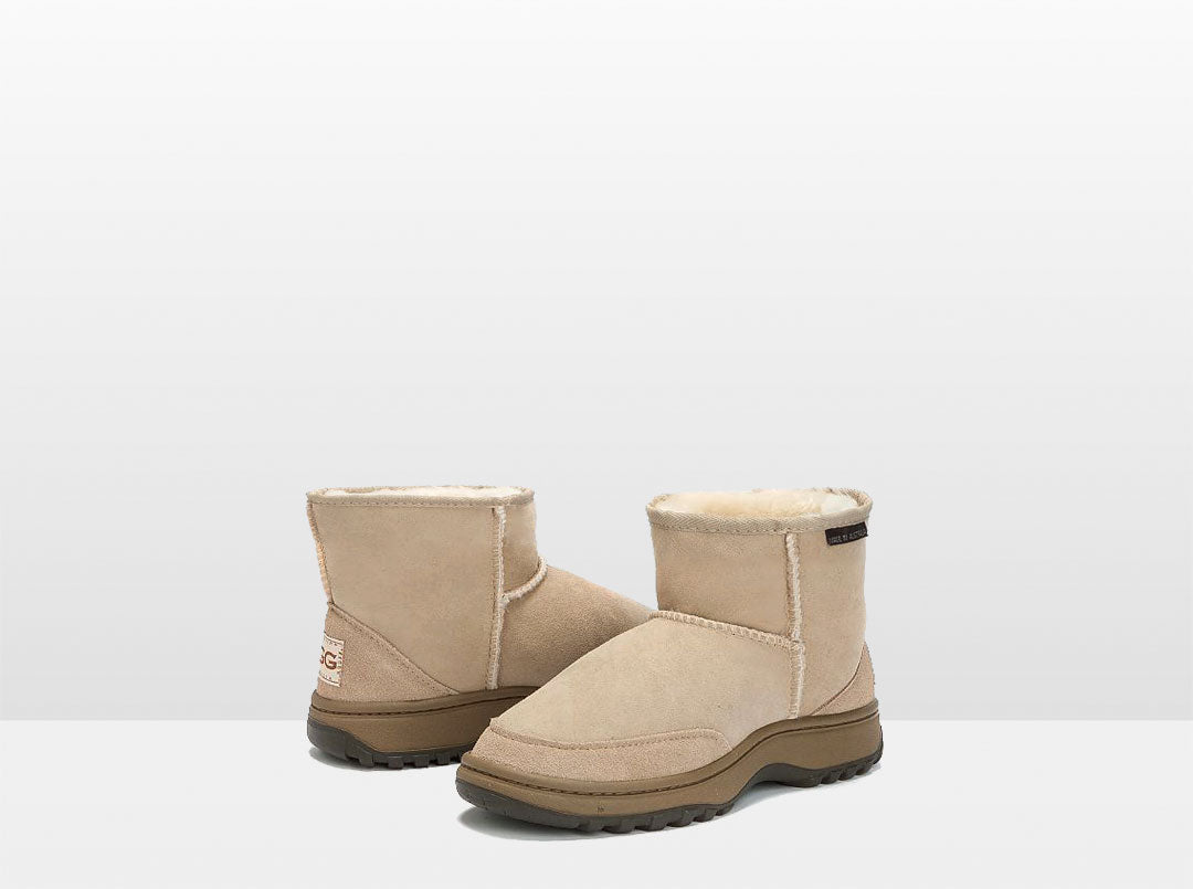 Adults Sand Classic Ultra Short Ugg Boots with Outdoor Sole