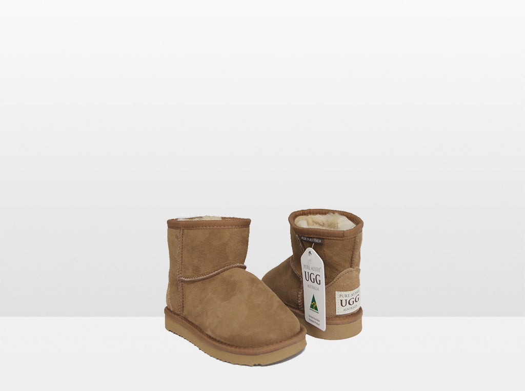 Kids Chestnut Classic Ankle Ugg Boot