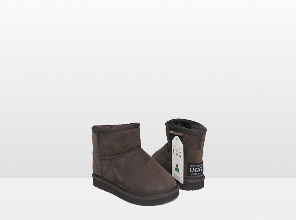 Kids Chocolate Classic Ankle Ugg Boot