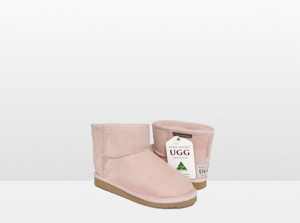 Kids Pink Classic Ankle Ugg Boot