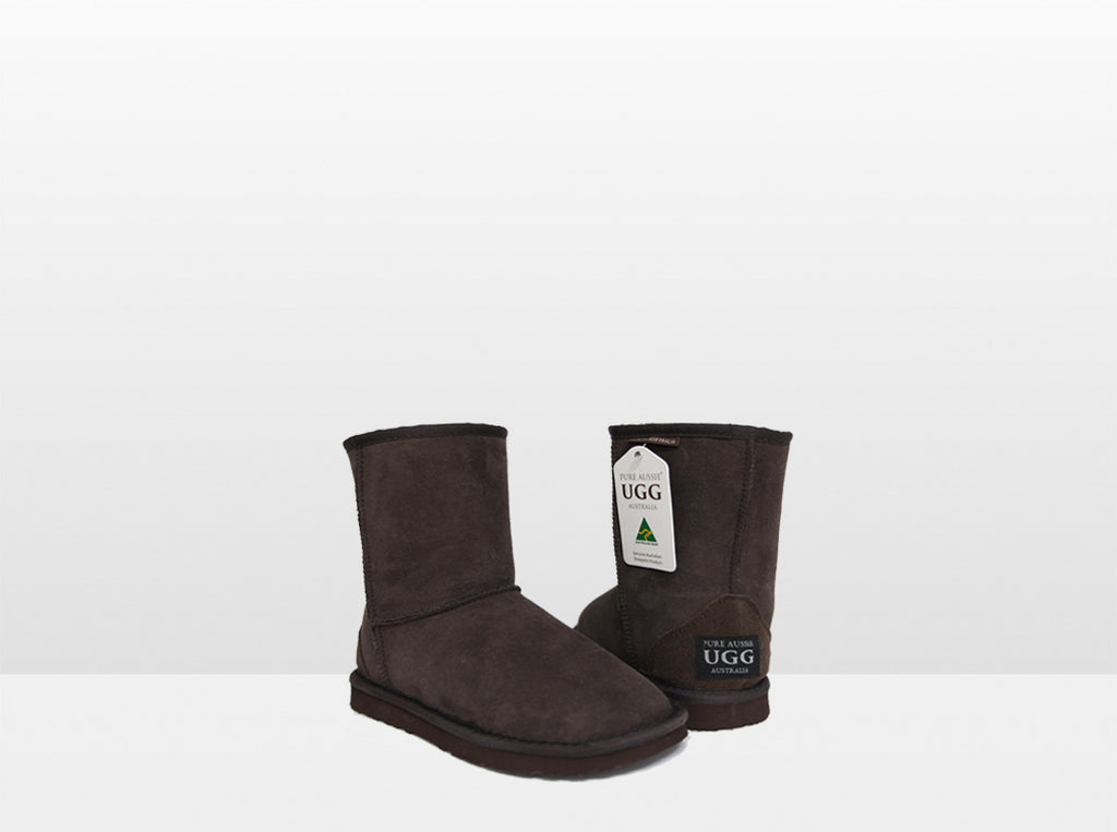 Kids Chocolate Classic Short Ugg Boot