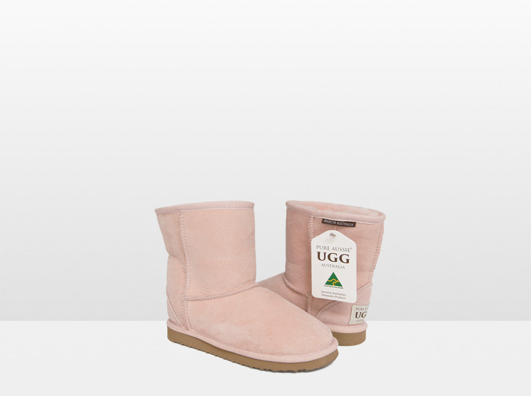 Kids Pink Classic Short Ugg Boot