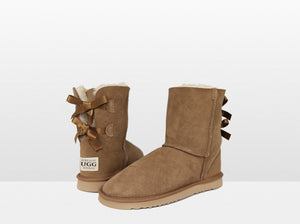 Adults Chestnut Mid Bow Ugg Boot