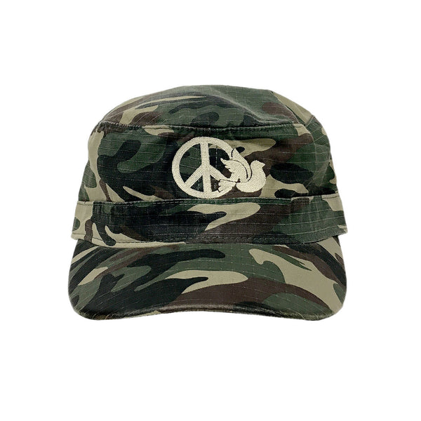 WOODLAND CAMO - PEACE STORE - EMBROIDERED CAP - 511