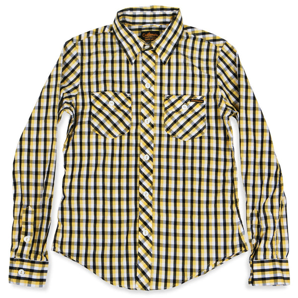 Beverly Black and Yellow Check Spade Pocket Women