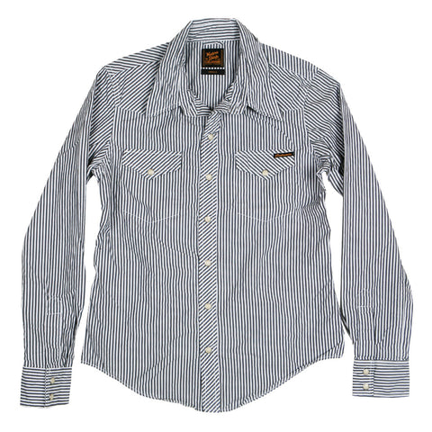Women's Danbury Black Stripe Western Shirt by Civilianaire