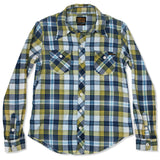 Women's Shelton Blue & Yellow Plaid Spade Pocket Shirt by Civilianaire