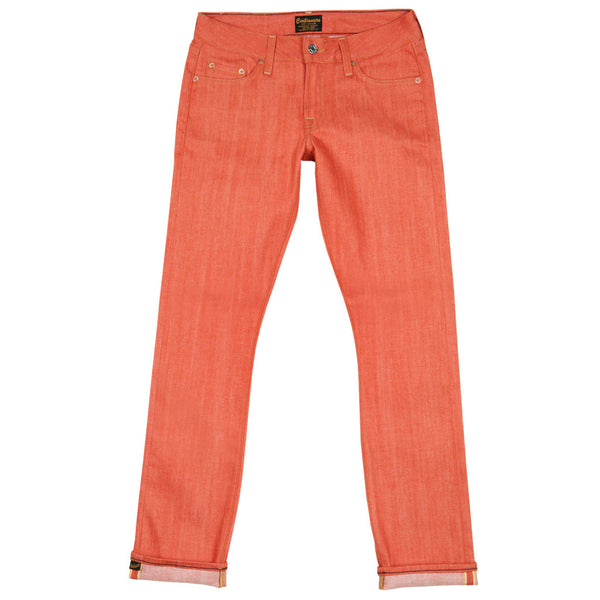 13.5 oz Super Slim - Coral Rigid Japanese Gold Selvage Denim by Civilianaire