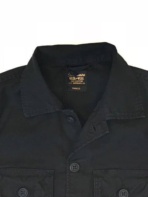 2 Pockets 100% Cotton Lucca Jacket - BLACK