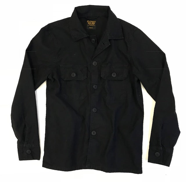 2 Pockets Cotton Erika Jacket - Sharp Black