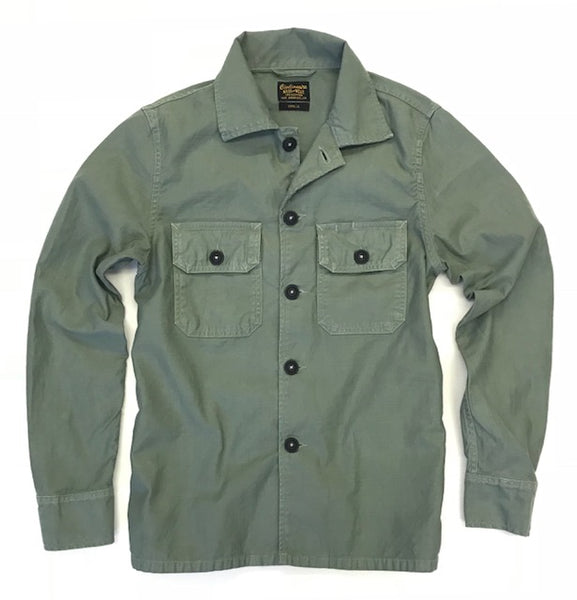 2 Pockets 100% Cotton Erika Jacket - Bottle Green