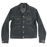 Men's 13.5oz Japanese Gold Selvage Grey Rinse Denim Ranch Jacket by Civilianaire