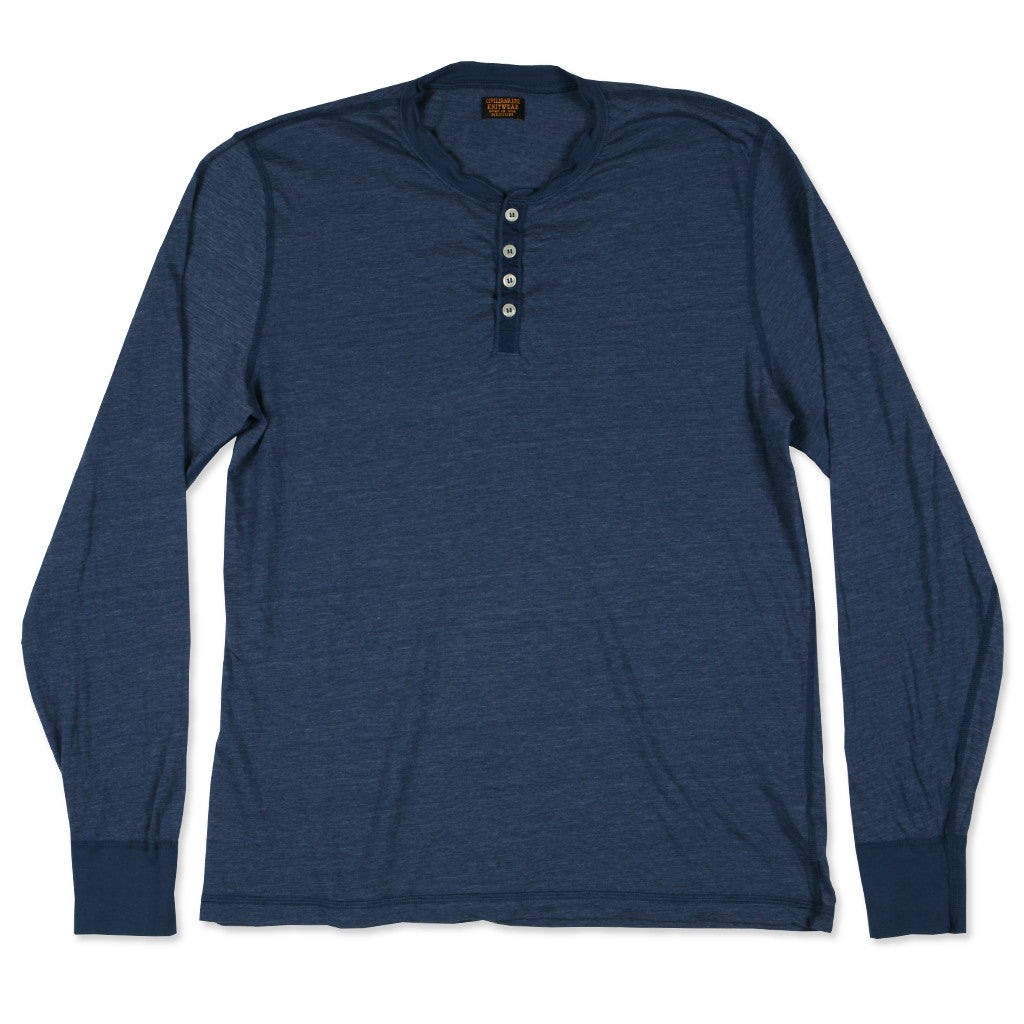 LS Banded Henley - Astro Blue
