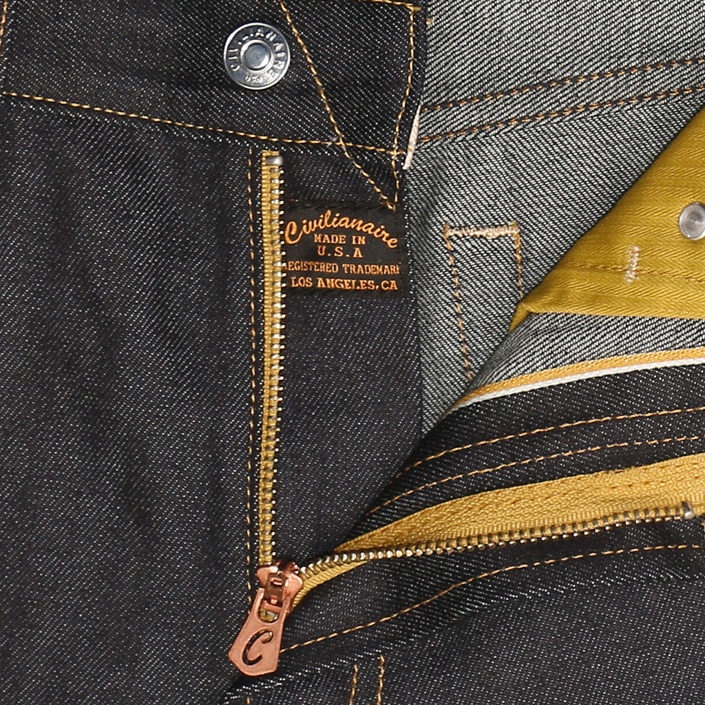 Men's 11 oz Gold Selvage Denim Slim Jean - Indigo