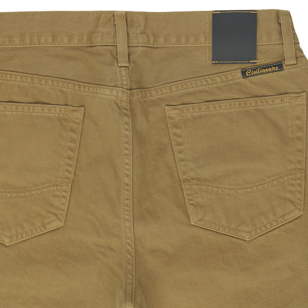 5-Pocket Slim Fit Twill Pants - KINDLING