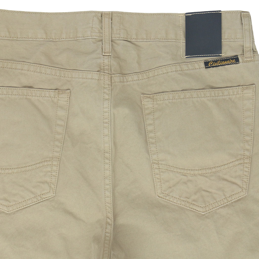 5-Pocket Slim Fit Twill Pants - Desert Sand