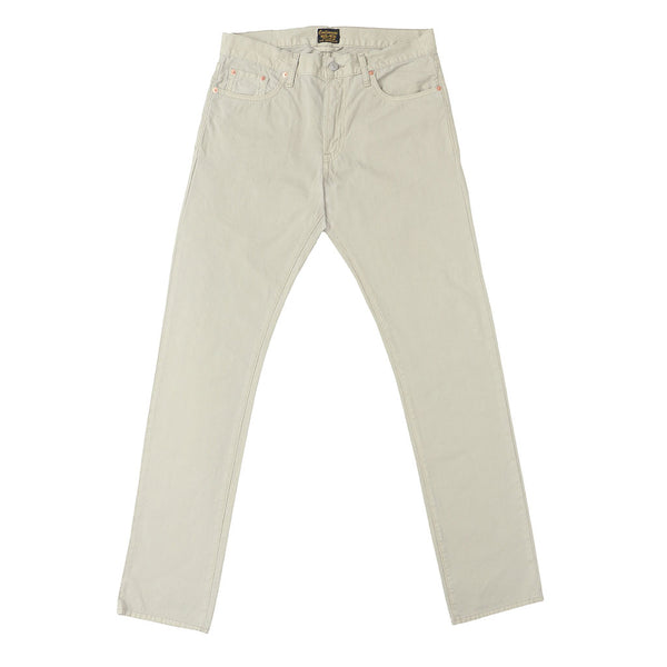 5-Pocket Slim Fit Twill Pants - Stone Age