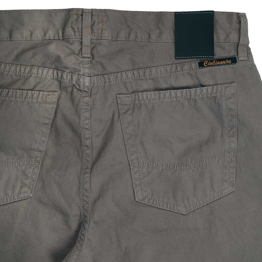 5-Pocket Slim Fit Twill Pants - Mist
