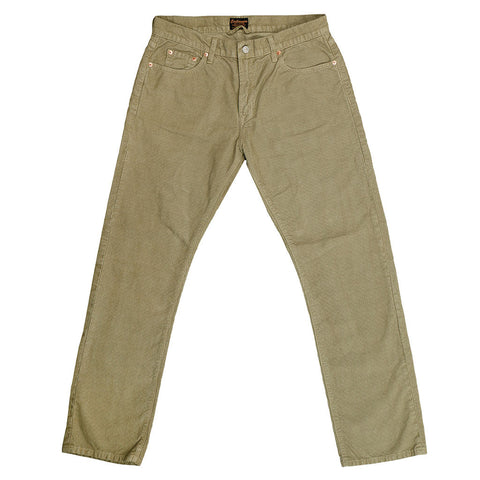 5-Pocket Slim Fit Corduroy Pants - Celery