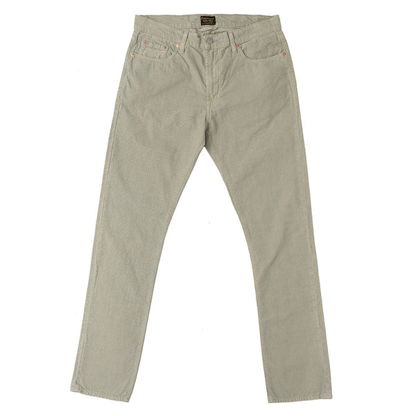 5-Pocket Slim Fit Corduroy Pants - Stone Age