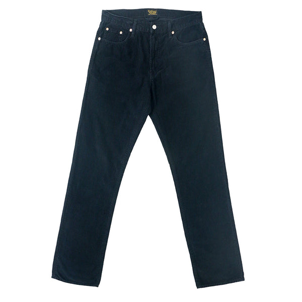 5-Pocket Slim Fit Corduroy Pants - Dark Navy