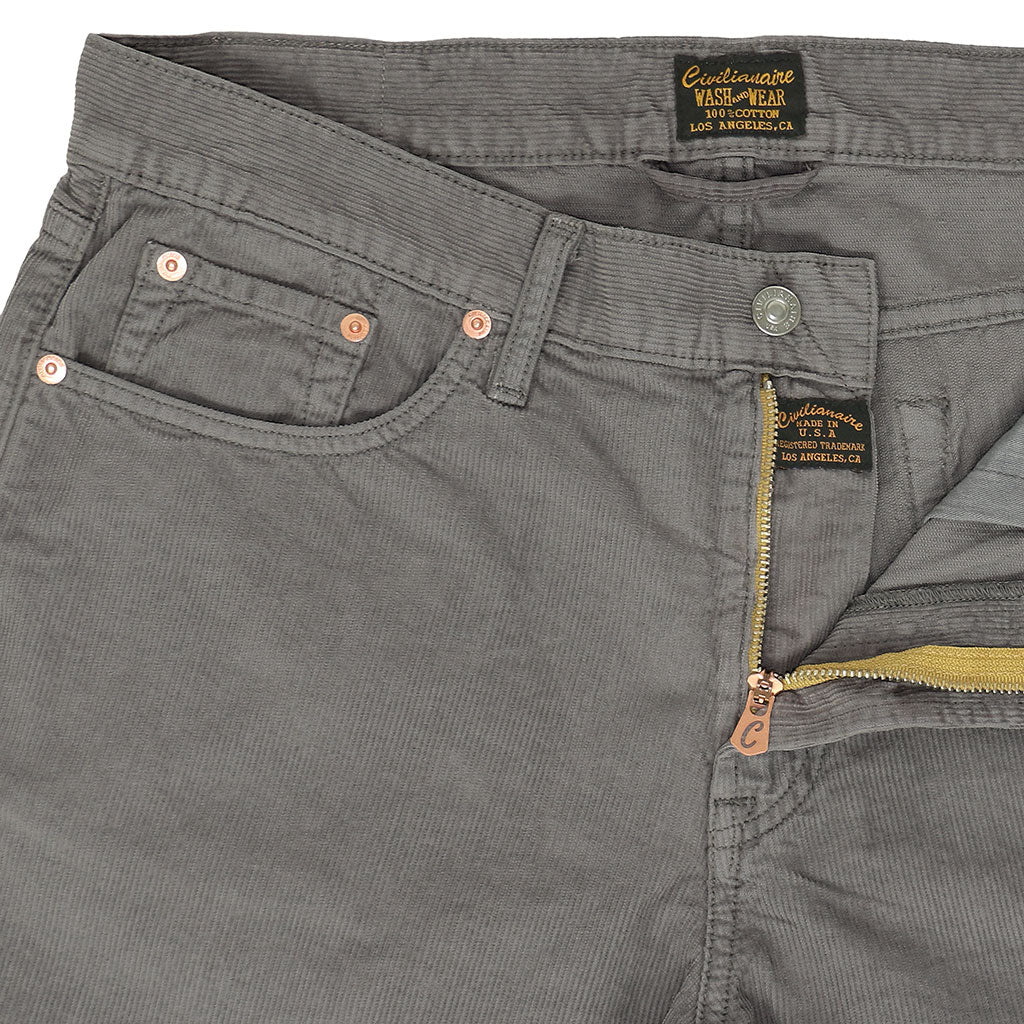 5-Pocket Slim Fit Corduroy Pants - Iron
