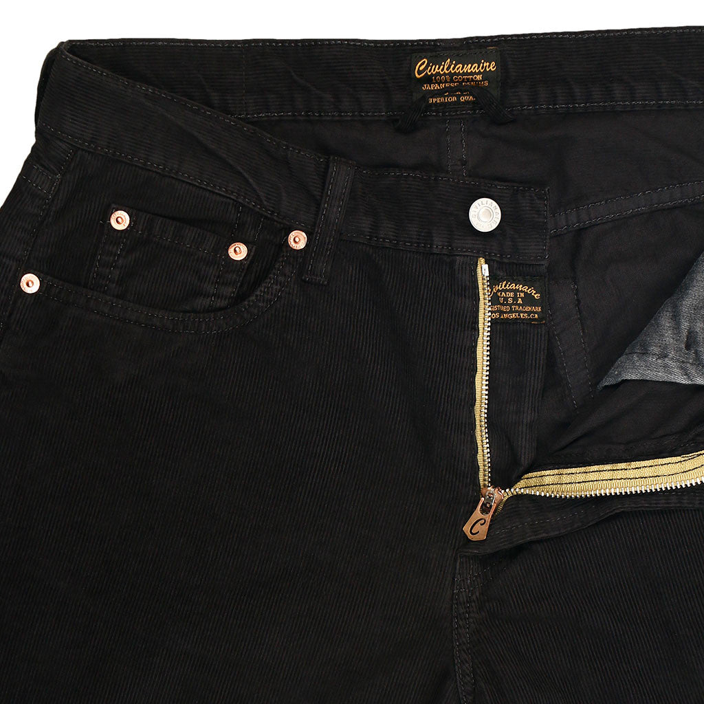 5-Pocket Slim Fit Corduroy Pants - Sharp