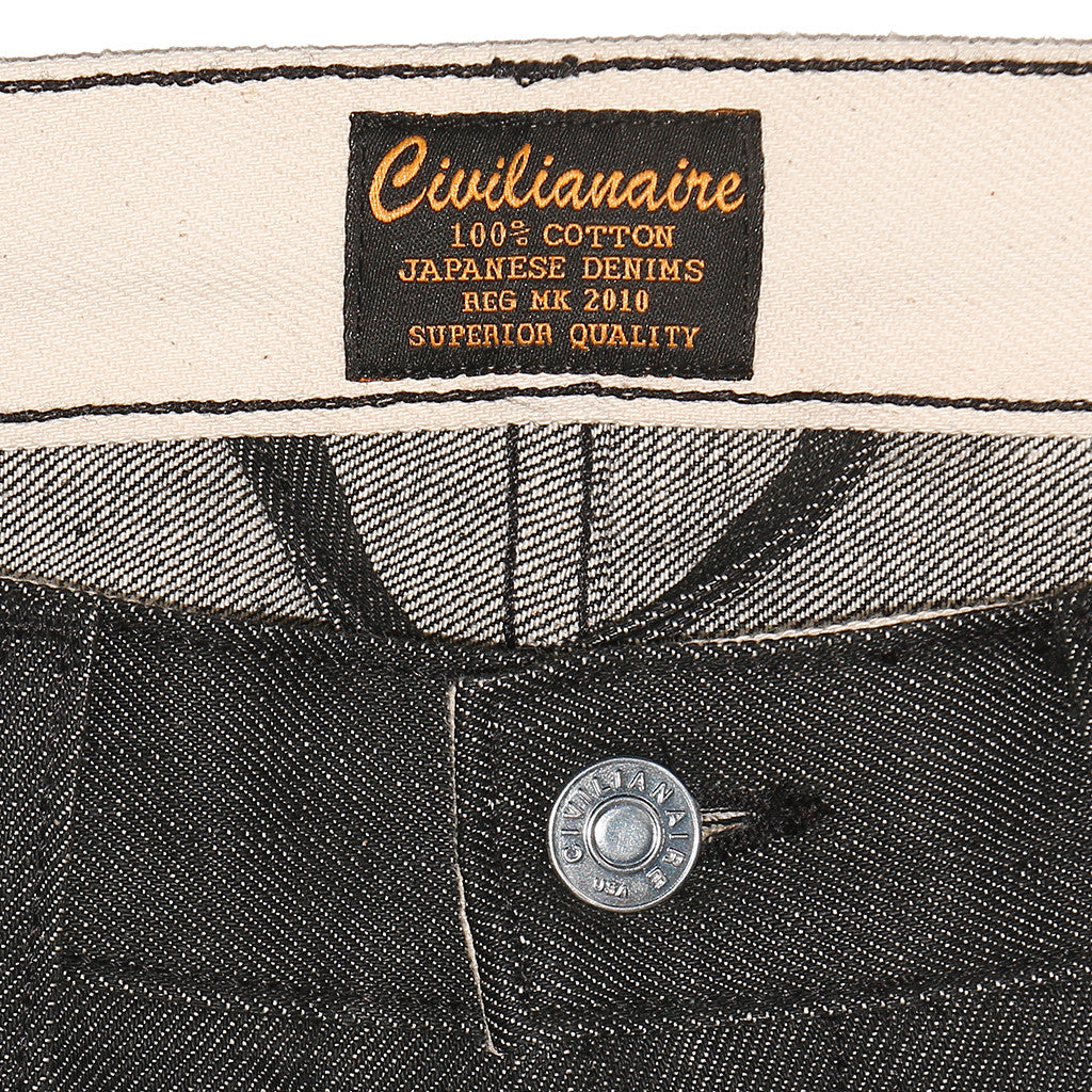 Men's 13.5 oz Gold Selvage Denim Super Slim Jean - Black